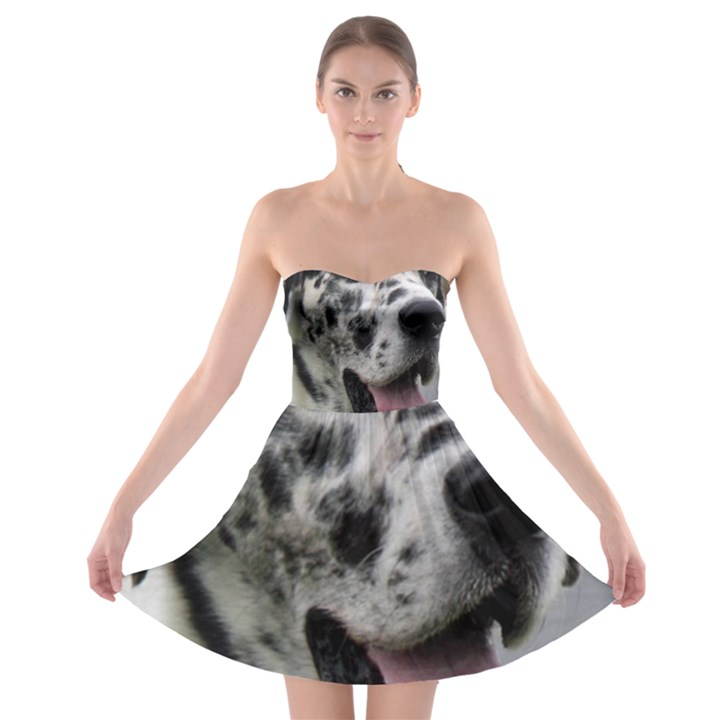 Great Dane harlequin  Strapless Bra Top Dress