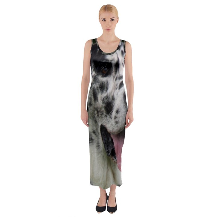 Great Dane harlequin  Fitted Maxi Dress