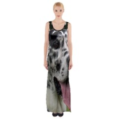 Great Dane harlequin  Maxi Thigh Split Dress