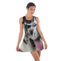 Great Dane harlequin  Cotton Racerback Dress