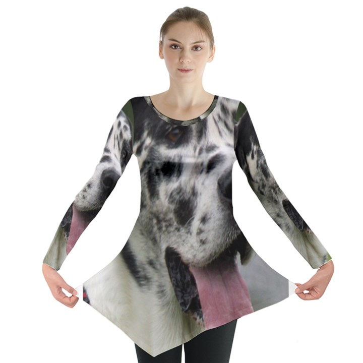 Great Dane harlequin  Long Sleeve Tunic