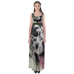Great Dane harlequin  Empire Waist Maxi Dress