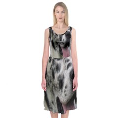 Great Dane harlequin  Midi Sleeveless Dress