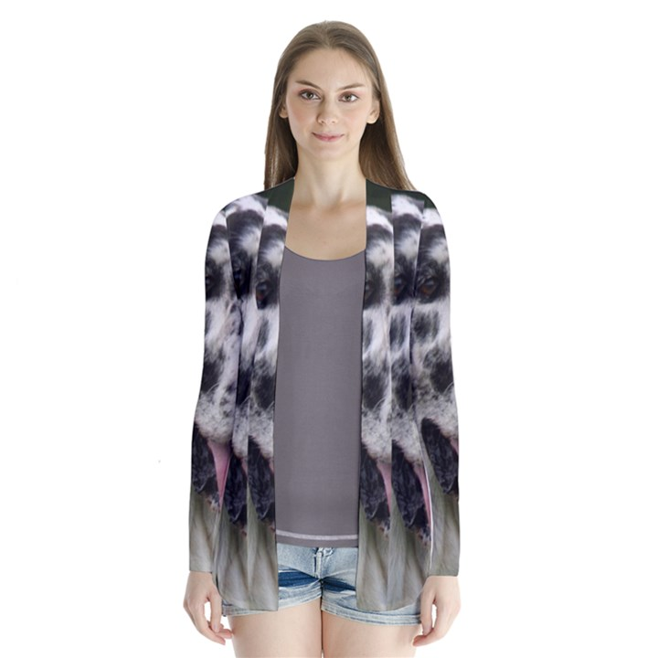 Great Dane harlequin  Drape Collar Cardigan