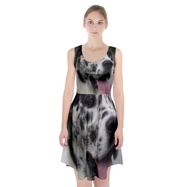 Great Dane harlequin  Racerback Midi Dress