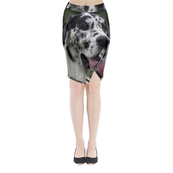 Great Dane harlequin  Midi Wrap Pencil Skirt