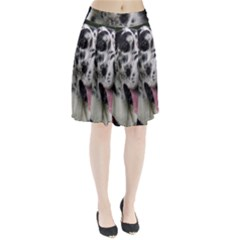 Great Dane harlequin  Pleated Skirt