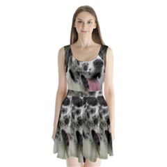 Great Dane harlequin  Split Back Mini Dress