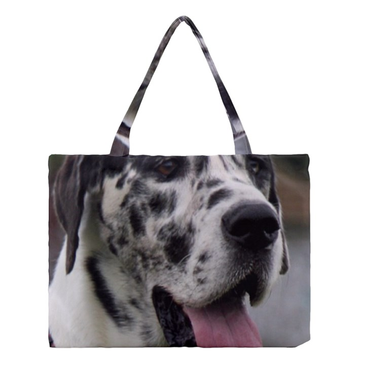 Great Dane harlequin  Medium Tote Bag