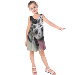 Great Dane harlequin  Kids  Sleeveless Dress