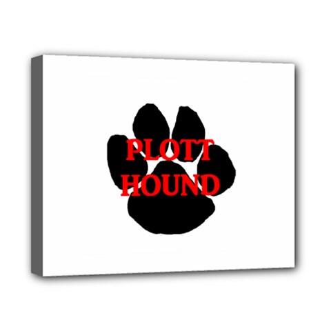 Plott Hound Name Paw Canvas 10  x 8
