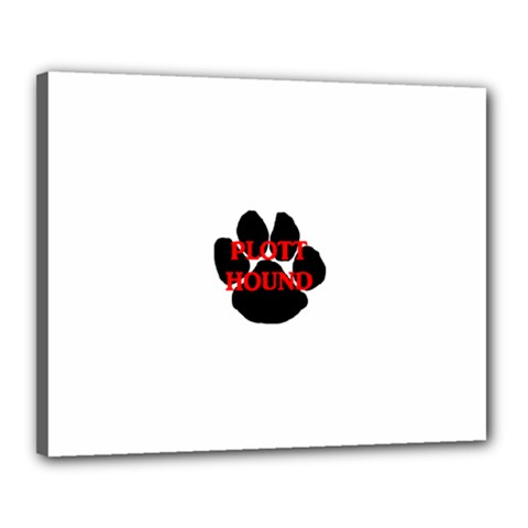 Plott Hound Name Paw Canvas 20  x 16
