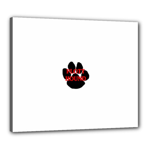 Plott Hound Name Paw Canvas 24  X 20