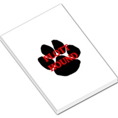 Plott Hound Name Paw Large Memo Pads