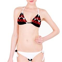 Plott Hound Name Paw Bikini Set