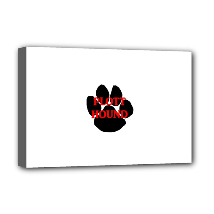Plott Hound Name Paw Deluxe Canvas 18  x 12