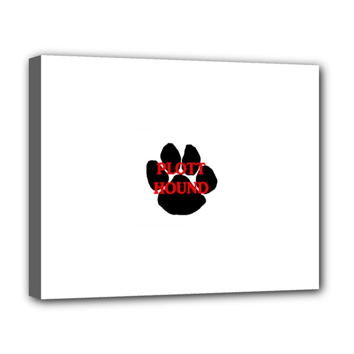 Plott Hound Name Paw Deluxe Canvas 20  x 16