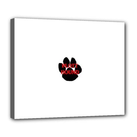 Plott Hound Name Paw Deluxe Canvas 24  x 20