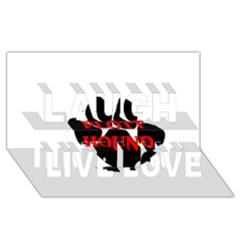 Plott Hound Name Paw Laugh Live Love 3D Greeting Card (8x4)