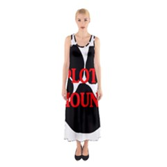 Plott Hound Name Paw Sleeveless Maxi Dress