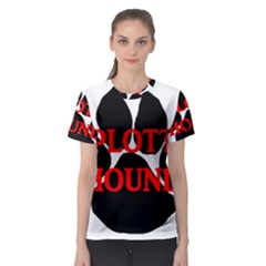 Plott Hound Name Paw Women s Sport Mesh Tee