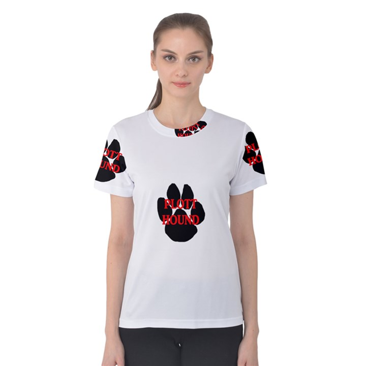 Plott Hound Name Paw Women s Cotton Tee