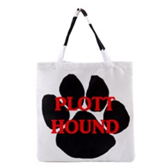 Plott Hound Name Paw Grocery Tote Bag