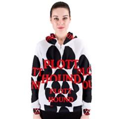 Plott Hound Name Paw Women s Zipper Hoodie
