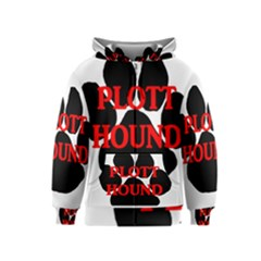 Plott Hound Name Paw Kids  Zipper Hoodie