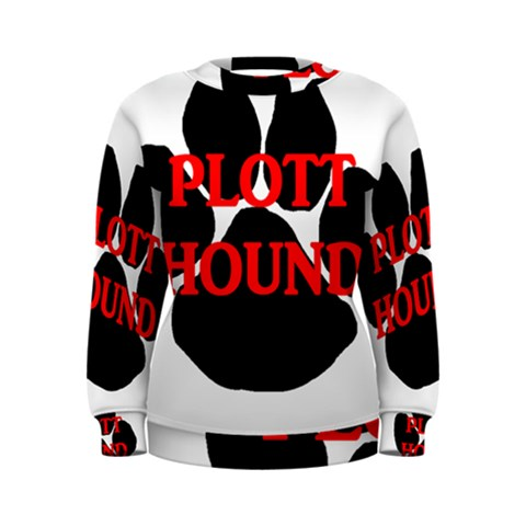 Plott Hound Name Paw Women s Sweatshirt