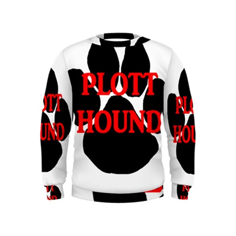Plott Hound Name Paw Kids  Sweatshirt