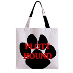 Plott Hound Name Paw Zipper Grocery Tote Bag