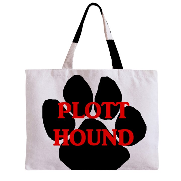 Plott Hound Name Paw Zipper Mini Tote Bag