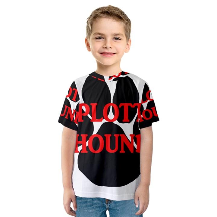Plott Hound Name Paw Kids  Sport Mesh Tee