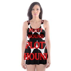 Plott Hound Name Paw Skater Dress Swimsuit