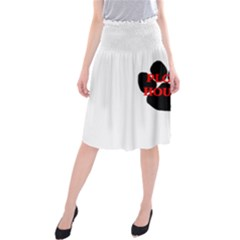 Plott Hound Name Paw Midi Beach Skirt
