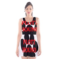 Plott Hound Name Paw Scoop Neck Skater Dress