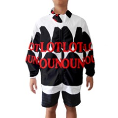 Plott Hound Name Paw Wind Breaker (Kids)