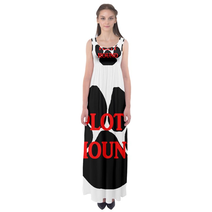 Plott Hound Name Paw Empire Waist Maxi Dress
