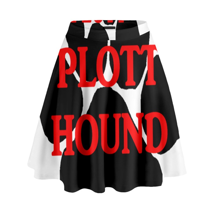 Plott Hound Name Paw High Waist Skirt