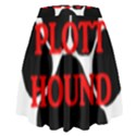 Plott Hound Name Paw High Waist Skirt View2