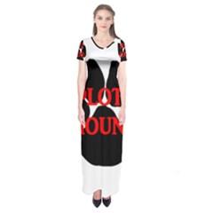 Plott Hound Name Paw Short Sleeve Maxi Dress
