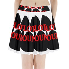 Plott Hound Name Paw Pleated Mini Skirt