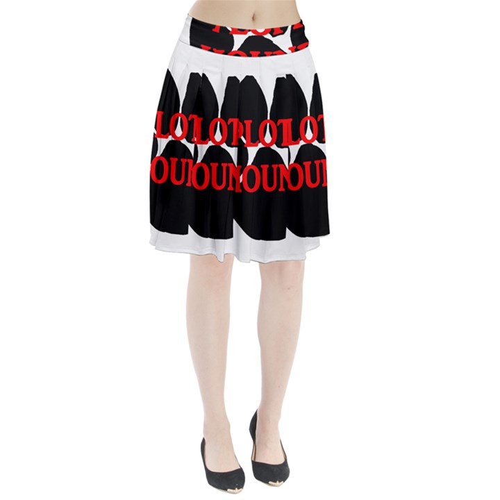 Plott Hound Name Paw Pleated Skirt