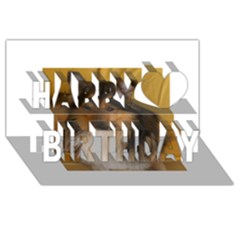 Shetland Sheepdog Happy Birthday 3D Greeting Card (8x4)