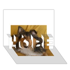 Shetland Sheepdog HOPE 3D Greeting Card (7x5)