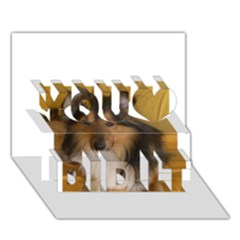 Shetland Sheepdog You Did It 3D Greeting Card (7x5)