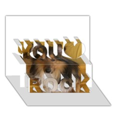 Shetland Sheepdog You Rock 3D Greeting Card (7x5)