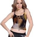 Shetland Sheepdog Spaghetti Strap Bra Top View1