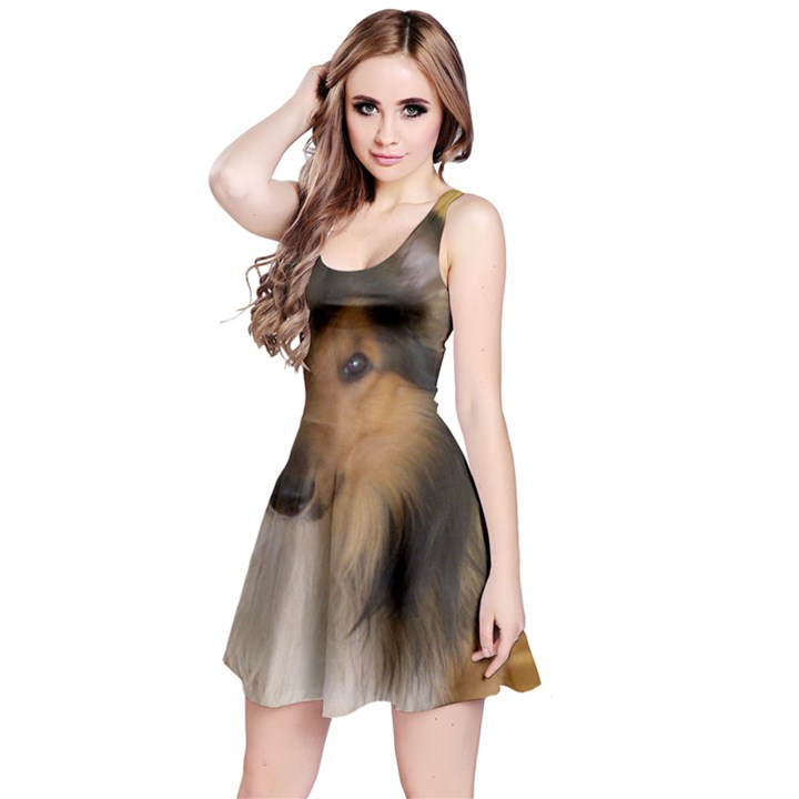 Shetland Sheepdog Reversible Sleeveless Dress